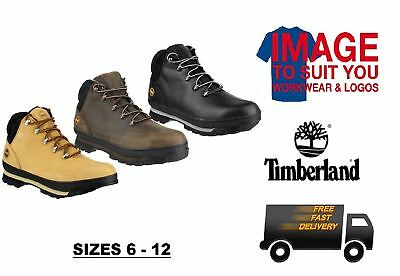 Timberland Splitrock Pro Safety Work Boot Footwear Protection Black Honey Gaucho