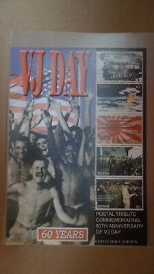 Briefmarkenblock   ---  Nevis    VJ Day  The 60th Anniversary