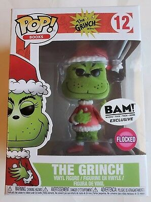 Funko Pop! The Grinch Flocked #12 BAM Exclusive Vinyl Figure
