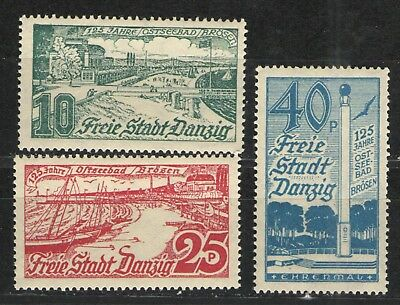 Germany - Danzig 1936 Sc# 216-218 MH F/VF - Great set