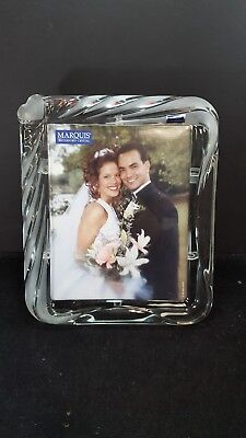 Marquis WATERFORD Crystal PICTURE FRAME 8x10  Heart In Corner Sweet Memories