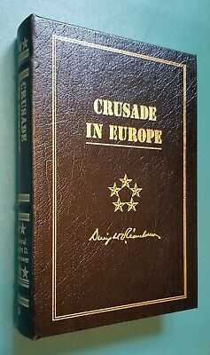 """Easton Press """"Crusade in Europe"""" by Dwight D Eisenhower Leather Bound Rare!"""