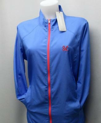 New Ladies LARGE adidas ESSENTIALS lightweight golf jacket blue St  Catherines GC a61dd456e0