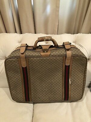 Authentic Vintage GUCCI Travel Bag Carry On Weekender Suitcase Luggage GG Logo