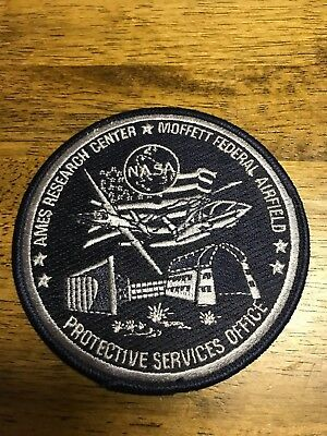Nasa Protective Services Office Ames Research Center Police Patch Badge New