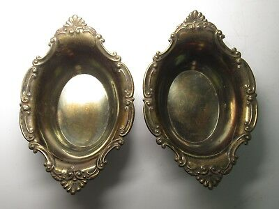 Beautiful Pair of Vintage Sterling Silver 925 Gorham Nut Dishes A2433