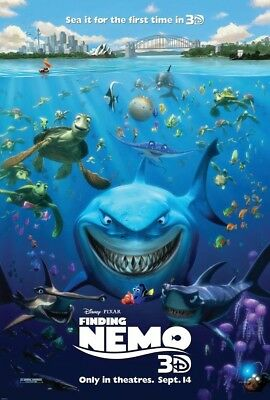 FINDING NEMO MOVIE POSTER 2 Sided ORIGINAL 2012 3D  REISSUE 27x40