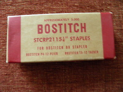 Vintage~Bostitch~5000 Staples~for B8 Stapler~Partial Open Box~STCRP2115-1/4""