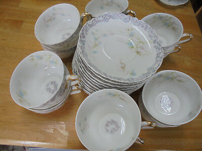 Haviland Limoges 12 Tea Cups And 11 Saucers - Made In France