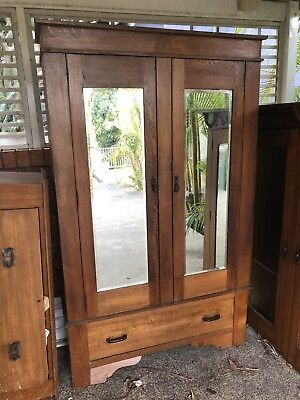 Solid Timber Antique Wardrobe