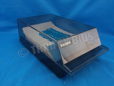 """Rolodex CBC-200 Covered Card File Black 200 - 2.25""""x4"""" Blank Cards A-Z Index Tab"""