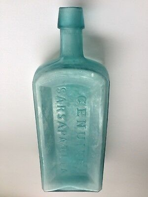 Bristol's Genuine Sarsaparilla New York Antique Bottle Applied Top