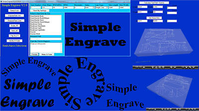 Simple Engrave V2 (3 Axis Milling programming g-code Software)