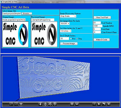 Simple Art (3 Axis CNC Machine Programming Software)