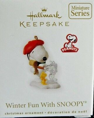 Hallmark 2010 Winter Fun With Snoopy # 13 In Series Miniature Ornament