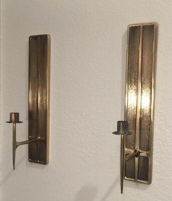 vintage mid century modern wall candle sconces Solid Brass