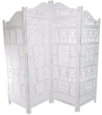 White Wooden Screen Room Divider Excellent Condition For A Ed Price