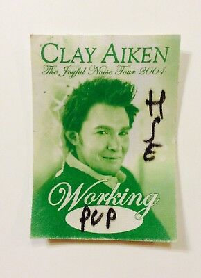Rare Clay Aiken The Joyful Noise 2004 Tour Pass Unused New Sticker