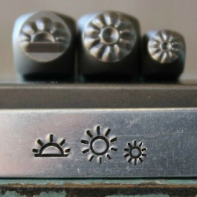 SUPPLY GUY 5mm & 3mm Sunrise and Sun Metal Punch 3 Stamp Set SGCH-308309310
