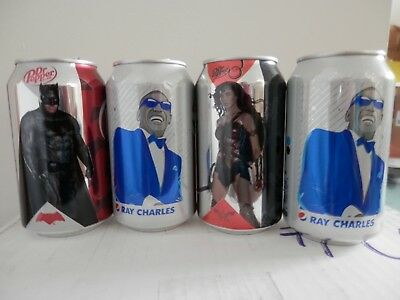 PICK ANY 2 Cans : Pepsi Ray Charles  Dr Pepper Batman  Dr P Cherry Wonder Woman