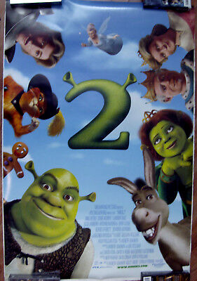 "Shrek 2 (Cast) 27"" X 40"" One Sheet Original Movie Poster Made In 2004"