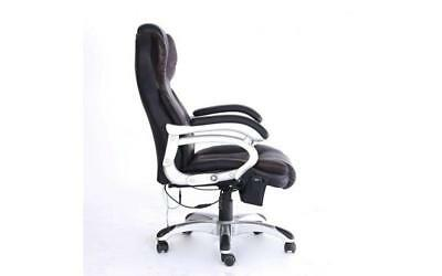Adjustable Office Massage Chair Swivel Computer Heated Black Brown Reclining