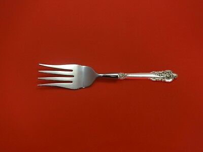 Grande Baroque by Wallace Sterling Silver Buffet Fork Custom Made HH WS 8 1/2""