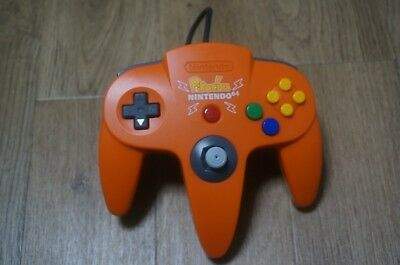 Nintendo 64 N64 Original controller Pikachu Orange Yellow Official pad mini