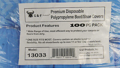 G /& F 50 Pairs Disposable Boot Shoe Covers Polypropylene Machine Made 100 Pack B