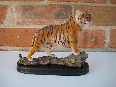 Bengal Tiger Collectible Wild Cat Animal Decoration Figurine Statue Home Decor