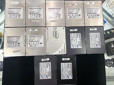 """Lot Of 9 Solid State Hard Drives 128Gb 2.5"""" Ssd Sata Toshiba Thnsnh128Gcst"""