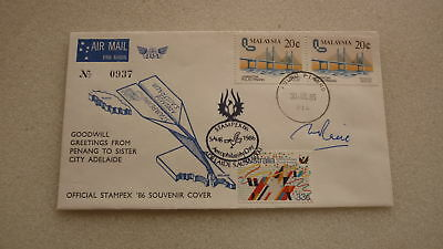1986 Stampex Penang & Adelaide Sister City Aerophilately Cover
