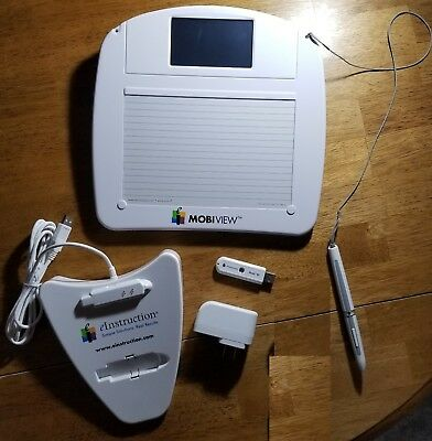 MobiView Workspace Edition Tablet eInstruction MWB600 Used + Accessories
