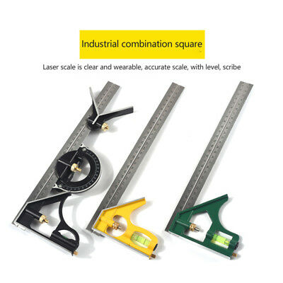 Adjustable Combination Set Square Stainless Steel Ruler Right Angle Ruler Square