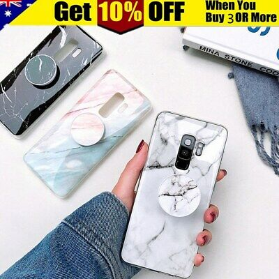 CHIC Marble Put Up Holder Slim Soft Case Cover For Samsung S9 S8 Plus Note 9 8
