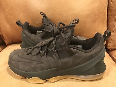 promo code d4330 f4c28 Nike Lebron XIII 13 Low PRM Anthracite Gum AH8289-001 Size 8 Dark Grey Suede