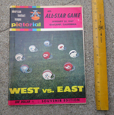 Orig Jan 21 1967 AFL All Star Game West vs East Oakland Coliseum Football Prgrm