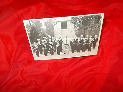 Antique   Weyerbacher's  Boy's  Band  Evansville,ind Real Photo Postcard