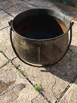 Vintage Cast Iron Cauldron ( No Reserve No Cracks,holes or Repairs )