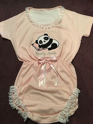 """Adult Baby Sissy Romper / Playsuit """"BEARLY AWAKE  44"""" Chest"""