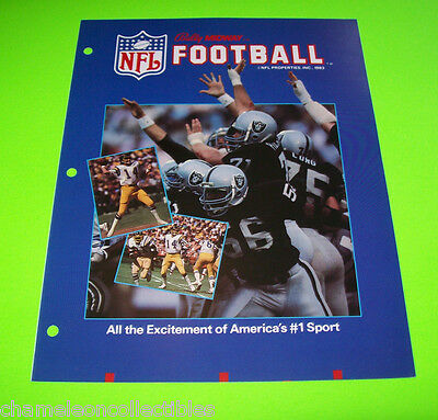Nfl Football Bally Midway 1983 Original Video Arcade Game Sales Flyer Brochure