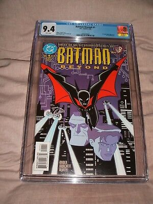 Batman Beyond 1 Cgc 9.4 White Pages Key Issue 1999