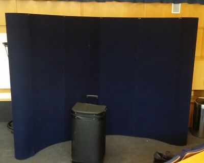 Curved dark blue 2.3 x 2.9m velcro 6 panel Pop-Up Exhibition Display Stand