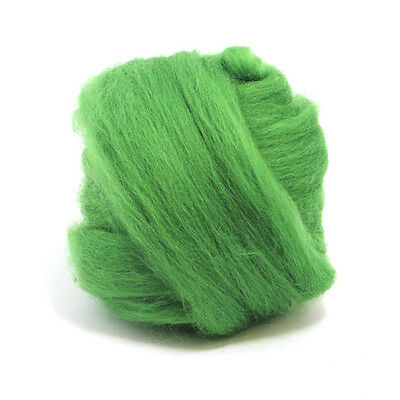 100g Dyed Merino Wool Top Grass Green Dreads Needle Spinning Felting Roving