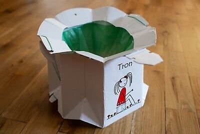 Tron - Disposable and Foldable Cardboard Travel Potty for children up to 30kg