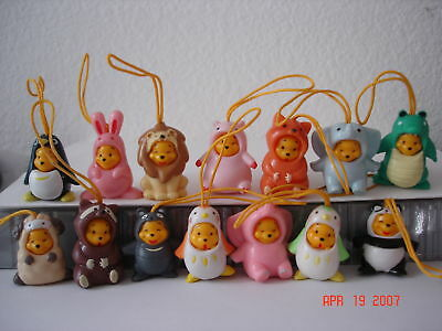 Winnie the Pooh Figure Peek-A-Pooh #1 Japanese version set of 14 pieces (rare)