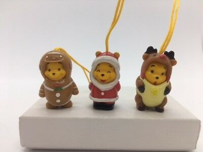 Disney Winnie the Pooh Figure Peek-A-Pooh Japanese Christmas series set of 3