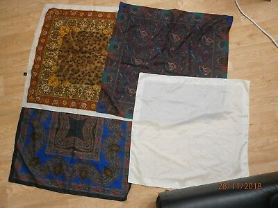 Job Lot ~ 10 Vintage Ladies Silk; Chiffon; Polyester Scarves inc ECHO Long Scarf