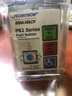 Securitron PB2 Access Control Green Push To Exit Button