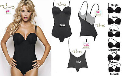 7dbf1ed769 Ultimo Black Padded Gel Push-up Multiway low-back Backless Control Body 36B